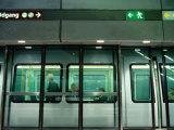 New Metro Train at Norreport Metro Station, Copenhagen, Denmark Photographic Print by Martin Lladó