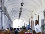 Restaurant, Plaza de Armas, Peru Photographic Print by Brent Winebrenner