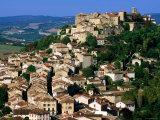 Hilltop Town in Tarn Region, Cordes-Sur-Ciel, Midi-Pyrenees, France Photographic Print by John Elk III