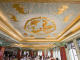 Gold Bats on Ceiling of Breakfast Room at Peace Hotel, the Bund, Shanghai, China Photographic Print by Greg Elms