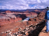 Colorado River Gooseneck, Walking Rocks Viewpoint, White Rim, Canyonlands National Park, Utah Photographic Print by Witold Skrypczak