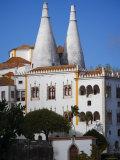 Palacio Nacional de Sintra Dominates Mountaintop Hamlet, Lisbon, Portugal Photographic Print by Greg Elms