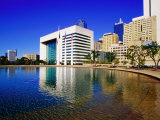 Skyline and City Hall Plaza Pool, Dallas, Texas Photographic Print by Richard Cummins