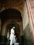 Call to Pray Inside the Badshahi Mosque, Lahore, Punjab, Pakistan Photographic Print by Richard I'Anson
