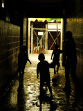 Soccer in Corridor of Mercado San Miguel, San Salvador, el Salvador Photographic Print by Anthony Plummer
