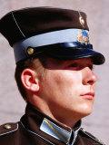 Soldier Guarding Freedom Monument, Riga, Latvia Photographic Print by Krzysztof Dydynski