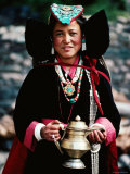 Girl at Village Festival, Alchi, Jammu and Kashmir, India Photographic Print by Richard I'Anson