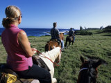 Horseriders, Hotel Hana-Maui, Maui, Hawaii Photographic Print by Holger Leue