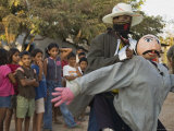 Street Performer Entertaining Children, Granada, Nicaragua Photographic Print by Margie Politzer
