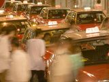 Taxi Jam in Lan Kwai Fong, Hong Kong, China Photographic Print by Greg Elms