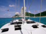 Deck, Mast and Rigging of Bare Boat Charter Catamaran, Tortola, Virgin Islands Photographic Print by John Elk III