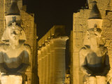 Ruins Floodlit at Night, Luxor, Egypt Photographic Print by Holger Leue