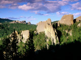 Rock Formations and Pine Forest, Black Hills, South Dakota Photographic Print by Richard Cummins