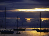 Sailboat at Sunset Photographic Print by Holger Leue