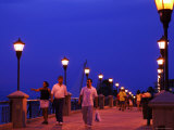 Promenading, Crossing Cuale River Near Playa Olas Altas at Dusk, Mexico Lmina fotogrfica por Anthony Plummer
