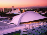 Convention Center Dome and Disney California Theme Park, Anaheim, California Photographic Print by Richard Cummins