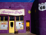 Route 66, Cafe Front 6Th Avenue, Amarillo, Texas Photographic Print by Witold Skrypczak