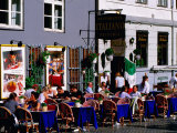 Outdoor Cafe on Stroget, Copenhagen, Denmark Photographic Print by John Elk III