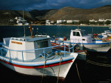 Fishing Boats Moored in Folegandros Port, Folegandros, Southern Aegean, Greece Photographic Print by Glenn Beanland
