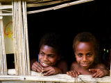 Custom Children, Tanna Island, Tafea, Vanuatu Photographic Print by Peter Hendrie