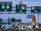 Route 66, Road Signs Amarillo Boulevard, Amarillo, Texas Photographic Print by Witold Skrypczak