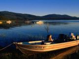 Boats Moored on Eagle Lake, Susanville, California Photographic Print by John Elk III