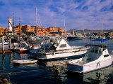 Boats Moored in Marina, Cabo San Lucas, Baja California Sur, Mexico Photographic Print by John Elk III