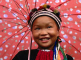 Ethnic Dao Lantien Girl from Mountainous Northern Vietnam, Tam Duong, Lao Cai, Vietnam Photographic Print by Stu Smucker