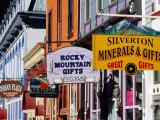 Shop Signs, Greene Street, Silverton, Colorado Fotografie-Druck von Witold Skrypczak