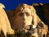 Giant Head of President Abraham Lincoln at Mount Rushmore National Memorial Photographic Print by David Tomlinson