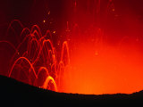 Yasur Volcano Lava Explosion, Tanna Island, Tafea, Vanuatu Photographic Print by Peter Hendrie