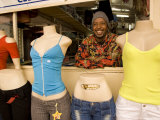 Man Behind Clothes Store Mannequins at Mercado Janeta, Maputo, Mozambique Photographic Print by Ariadne Van Zandbergen