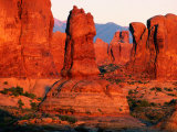 Windows Section at Sunset, Arches National Park, Utah Photographic Print by David Tomlinson