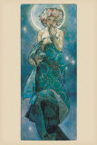 La Luna Lminas por Alphonse Mucha