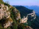 Overlooking Cliffs to South of Mont Revard Near Savoy, Savoy, Rhone-Alpes, France Photographic Print by John Elk III