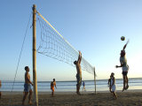 Beach Volleyball at Legian Beach, Bali, Indonesia Photographic Print by Michael Gebicki