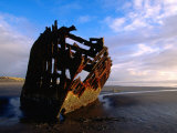 Wreck of Peter Iredale, Oregon Photographic Print by John Elk III