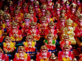 Ganesh Statues for Sale at Gulmandi Road Bazaar, Aurangabad, Maharashtra, India Photographic Print by Richard I'Anson
