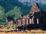Wat Phu Chapasak Ruins, Champasak, Laos Photographic Print by John Elk III