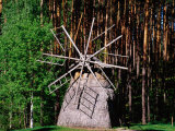 Windmill, Open-Air Ethnographic Museum, Riga, Latvia Photographic Print by Krzysztof Dydynski