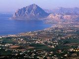 North Coast and Monte Cofano, Erice, Sicily, Italy Fotografisk tryk af John Elk III