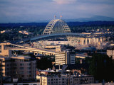 Fremont Bridge in Distance, Portland, Oregon Photographic Print by John Elk III