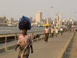 People Walking along Catembe Jetty, Maputo, Mozambique Photographic Print by Ariadne Van Zandbergen