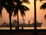 Harbor at Sunset, Manila, Luzon, Southern Tagalog, Philippines Photographic Print by John Elk III
