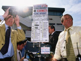 Seamus Mulvaney Bookmakers, Galway Horseraces, Ireland Photographic Print by Holger Leue