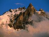 Les Ecrins National Park, La Meije Highest Peak in Park, France Fotografisk tryk af John Elk III