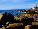 Rocky Coastline and Lighthouse, Cabo Polonio Forest Park, Rocha, Uruguay Photographic Print by Krzysztof Dydynski
