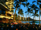 Pub at Waikiki Beach, Oahu, Hawaii Photographic Print by Holger Leue