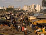 Stalls at Beira Market , Beira, Sofala, Mozambique Photographic Print by Ariadne Van Zandbergen
