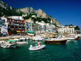 Boats in Marina Grande Harbour, Capri, Campania, Italy Photographic Print by David Tomlinson